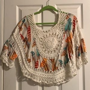 Tops - Crocheted Top Size M